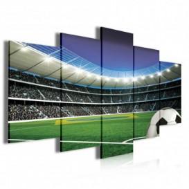 Obraz na plátne viacdielny - OB3982 - Futbalový štadión