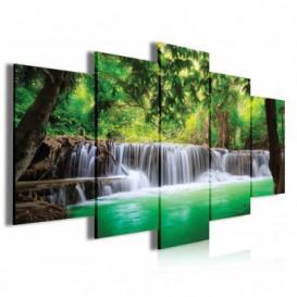 Obraz na plátně vícedílný - OB3984 - Vodopád v lese