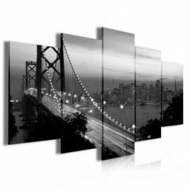Obraz na plátne viacdielny - OB3985 - Nočný most
