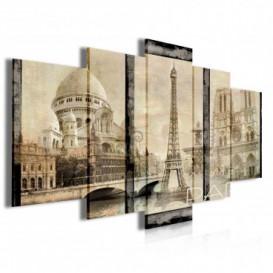 Obraz na plátne viacdielny - OB3989 - Paríž