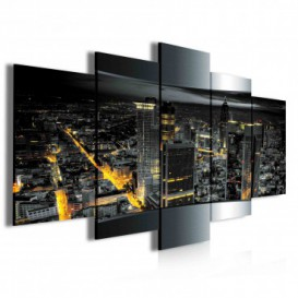 Obraz na plátne viacdielny - OB3998 - Nočné mesto