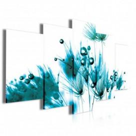 Obraz na plátne viacdielny - OB4001 - Tyrkysová tráva
