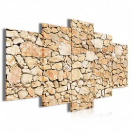 Obraz na plátne viacdielny - OB4002 - Kamenná stena