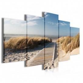 Obraz na plátne viacdielny - OB4005 - Chodník na pláž