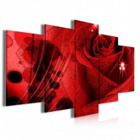 Obraz na plátne viacdielny - OB4007 - Červená ruža