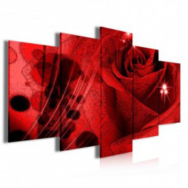 Obraz na plátně vícedílný - OB4007 - Červená růže