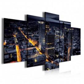 Obraz na plátně vícedílný - OB4009 - Noční město
