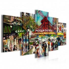 Obraz na plátně vícedílný - OB4016 - Moulin Rouge