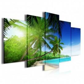 Obraz na plátně vícedílný - OB4021 - Pláž