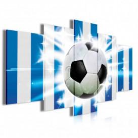 Obraz na plátne viacdielny - OB4025 - Futbalová lopta