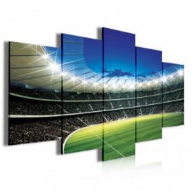 Obraz na plátne viacdielny - OB4026 - Futbalový štadión