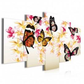 Obraz na plátně vícedílný - OB4032 - Motýli