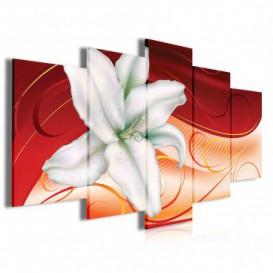 Obraz na plátne viacdielny - OB4036 - Biely kvet
