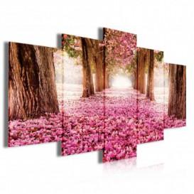 Obraz na plátne viacdielny - OB4043 - Ružový les