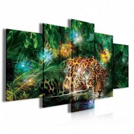 Obraz na plátně vícedílný - OB4049 - Leopard