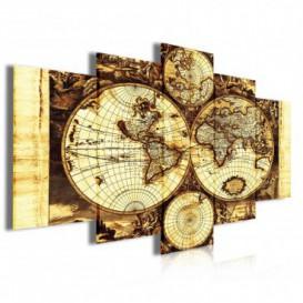 Obraz na plátně vícedílný - OB4051 - Mapa světa