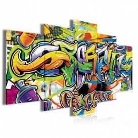 Obraz na plátně vícedílný - OB4053 - Grafity