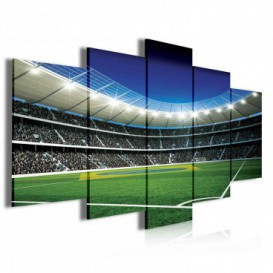 Obraz na plátne viacdielny - OB4060 - Futbalový štadión