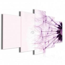 Obraz na plátne viacdielny - OB4064 - Púpava fialová