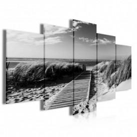 Obraz na plátne viacdielny - OB4065 - Chodník na pláž