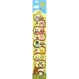 Ozdobné pásy na stenu - FT5515 - Sovičky, sovičky, veľa sovičiek