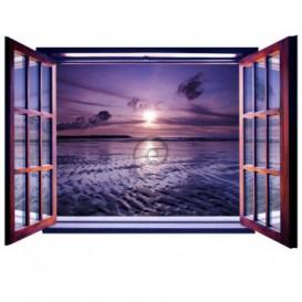 Fototapeta - FT0080 - Okno - fialový západ slnka