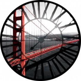 Fototapeta - FT0373 - Hodiny - most San Francisco