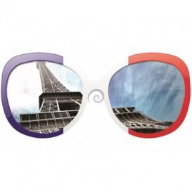 Fototapeta - FT0377 - Okuliare - Eiffelová veža Paríž