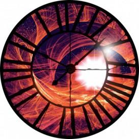 Fototapeta - FT0452 - Hodiny - červená abstrakcia
