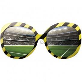 Fototapeta - FT0521 - Okuliare a futbalový štadión žlto čierne