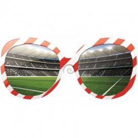 Fototapeta - FT0522 - Okuliare a futbalový štadión červeno biele