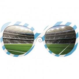 Fototapeta - FT0523 - Okuliare a futbalový štadión bielo modré