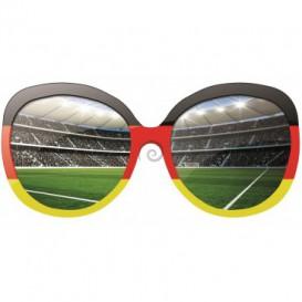 Fototapeta - FT0525 - Okuliare a futbalový štadión červeno, čierno žlté