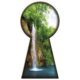 Fototapeta - FT0763 - Kľúčová dierka - vodopád
