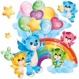 Fototapeta - FT5546 - Vyrezávaná fototapeta - Rainbow medvedici