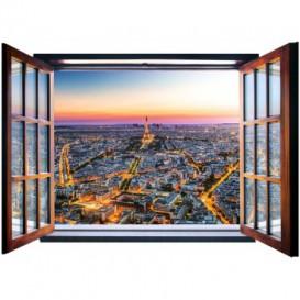 Fototapeta - FT5559 - Okno - osvetlený Paríž