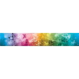 Ozdobné pásy na stenu - MP0302 - Farebné motýle