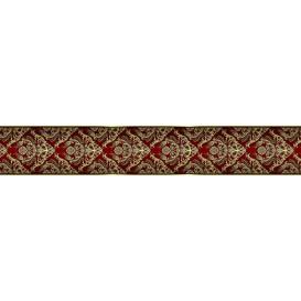 Ozdobné pásy na stenu - MP0308 - Zlatý barokový vzor na červenom pozadí