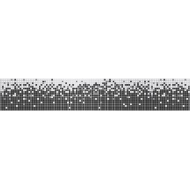 Ozdobné pásy na stenu - MP0311 - Abstraktné pixely čierno biele