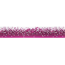Ozdobné pásy na stenu - MP0312 - Abstraktné pixely purpurovo biele