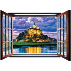 Fototapeta - FT5571 - Okno - Le Mont-Saint-Michel