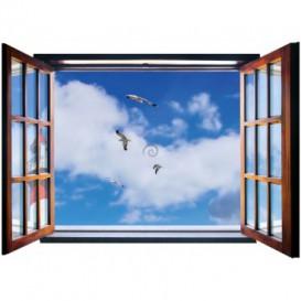 Fototapeta - FT5574 - Okno - čajky na nebi