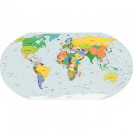 Fototapeta - FT5587 - Oválna fototapeta - mapa sveta