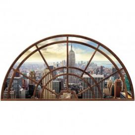 Fototapeta - FT5596 - Polkruhové okno - mesto New York