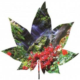 Fototapeta - FT5610 - Javorový list - vodopád v lese