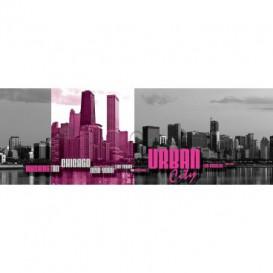 Rohová fototapeta - FT5618 - Urban city - fialová
