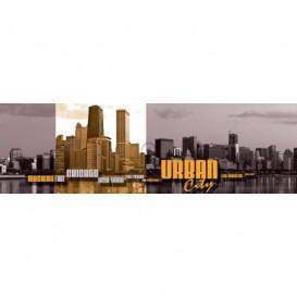 Rohová fototapeta - FT5620 - Urban city - oranžová