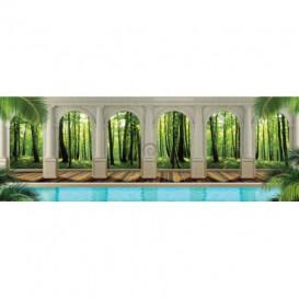 Rohová fototapeta - FT5627 - Zelený les - výhľad