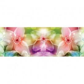 Rohová fototapeta - FT5630 - Farebné kvety