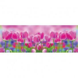 Rohová fototapeta - FT5633 - Fialové tulipány